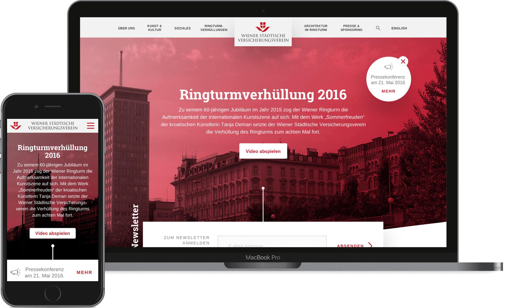 The Ringturm's new digital clothes